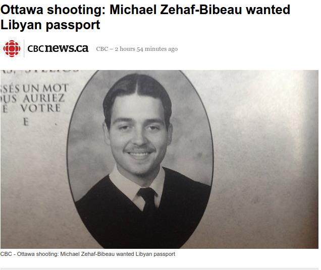 Ottawa shooting: Michael Zehaf-Bibeau wanted Libyan passport